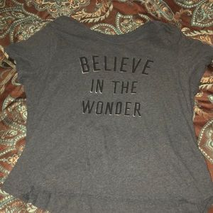 Grey t shirt w/ quote